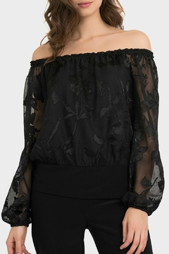 Joseph Ribkoff USA Inc. Black Burnout Floral Off-Shoulder - Product List Image