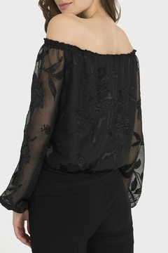 Joseph Ribkoff USA Inc. Black Burnout Floral Off-Shoulder - Alternate List Image