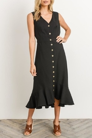 Gilli Black Button-Down Midi-Dress - Product Mini Image