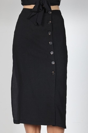 essue Black Button-Down Set - Back cropped