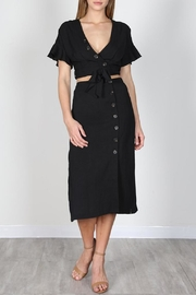 essue Black Button-Down Set - Front cropped