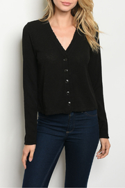 Very J  Black Button Down Top - Product Mini Image