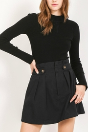 Very J Black Button Skirt - Product Mini Image