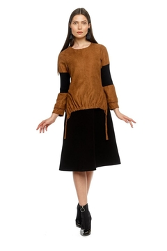 Modaliani Black & Camel Dress - Product List Image