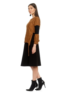 Modaliani Black & Camel Dress - Alternate List Image