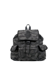 Quilted Koala Black Camoflage Backpack - Product Mini Image