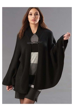 Charlie Paige Black-Cape With Toggle - Product List Image