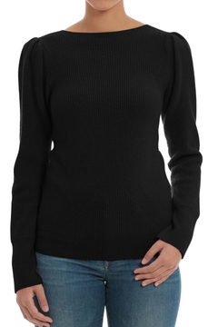 Minnie Rose Black Cashmere Sweater - Product List Image