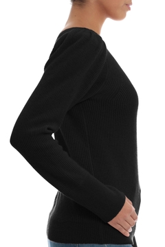 Minnie Rose Black Cashmere Sweater - Alternate List Image