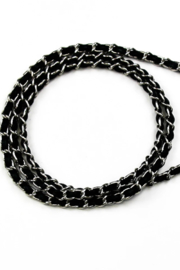 Hera Black Chain Strap for Iphone Case - Front full body