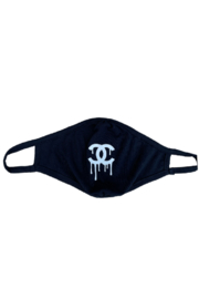 Bedford Basket Black Chanel Drip Inspired Face Mask - Product Mini Image