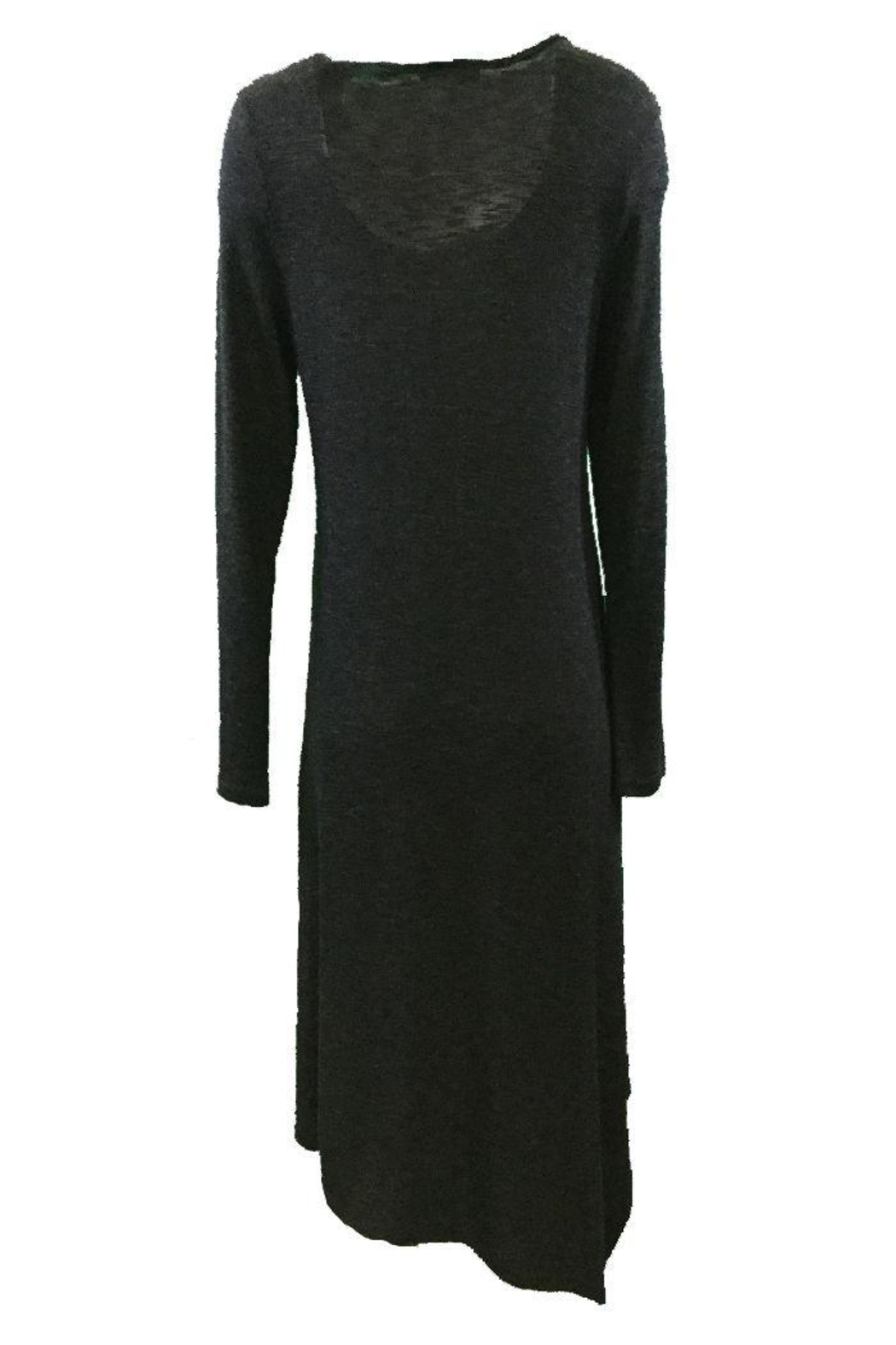 Michael Tyler Collections Black Charcoal Dress - Side Cropped Image