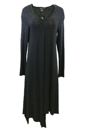 Michael Tyler Collections Black Charcoal Dress - Front cropped