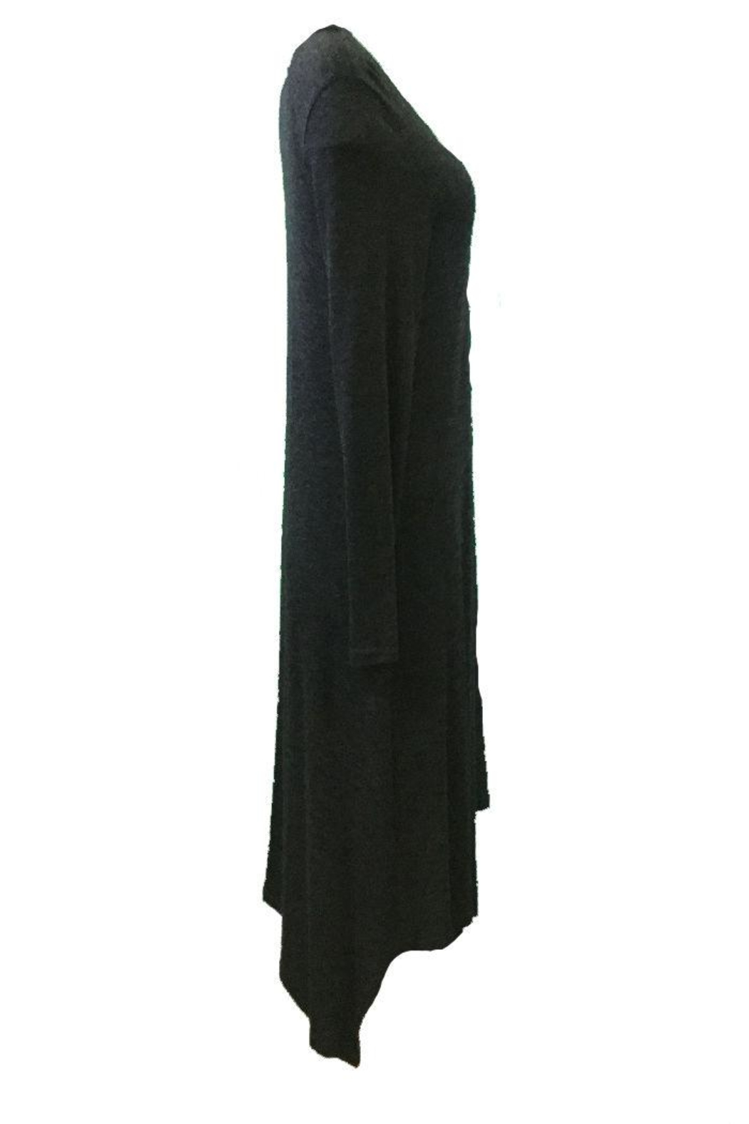 Michael Tyler Collections Black Charcoal Dress - Front Full Image