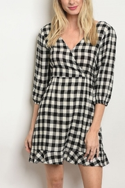 Lyn-Maree's  Black Check Dress - Product Mini Image