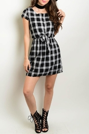 Interi Black Checkered Dress - Product Mini Image