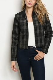Lyn-Maree's  Black Checkered Jacket - Product Mini Image