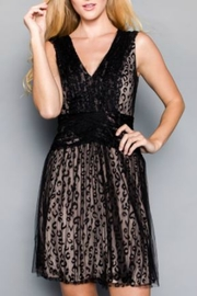 Minuet Black Cheetah Tule Dress - Product Mini Image