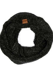 CC Beanie Black Chenille Scarf - Product Mini Image