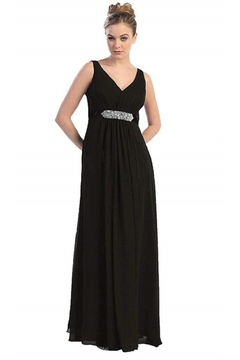 May Queen  Black Chiffon Formal Long Dress - Alternate List Image
