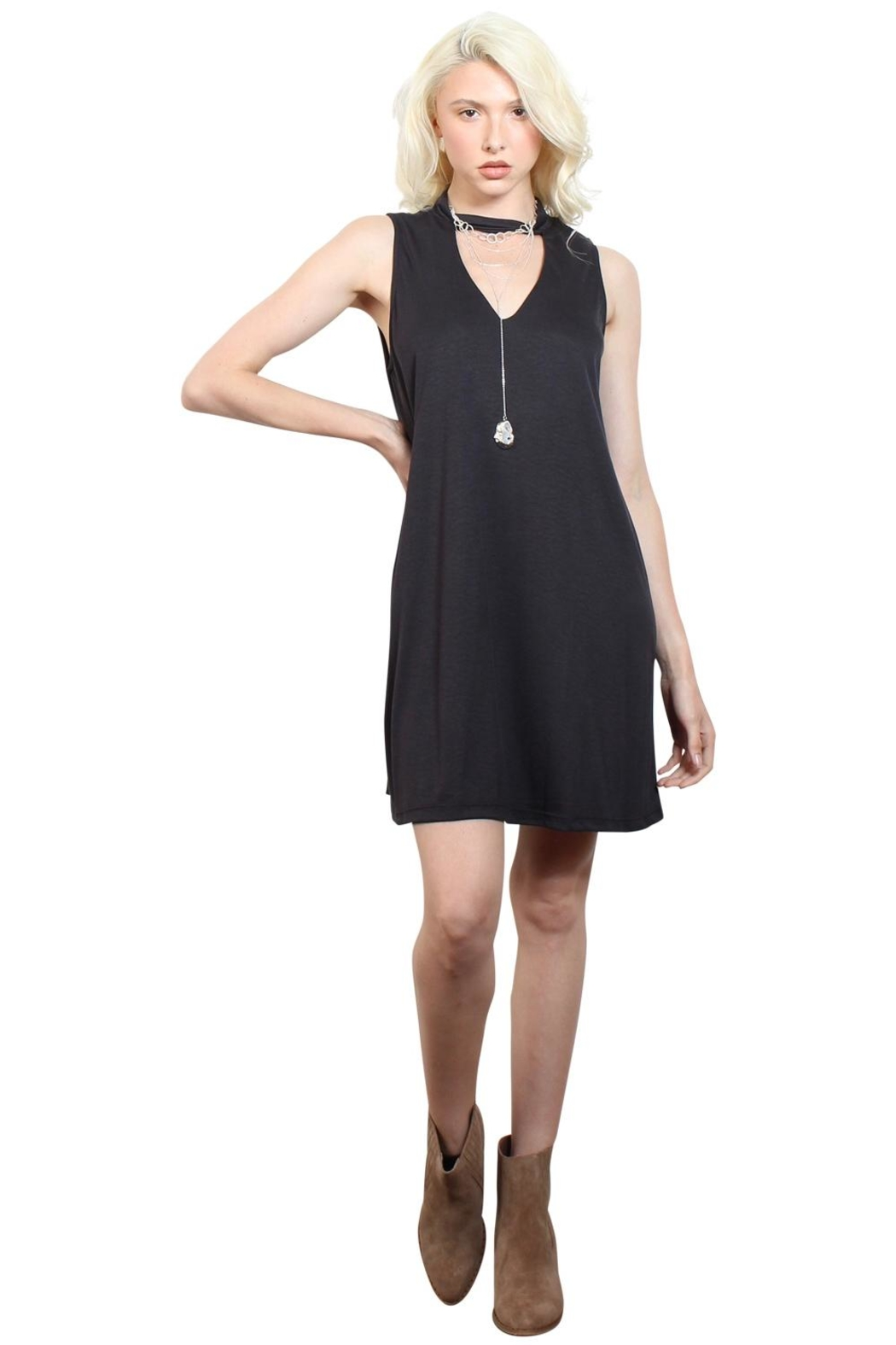 Rock Etiquette Black Choker Dress - Main Image