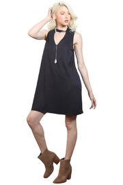 Rock Etiquette Black Choker Dress - Front full body