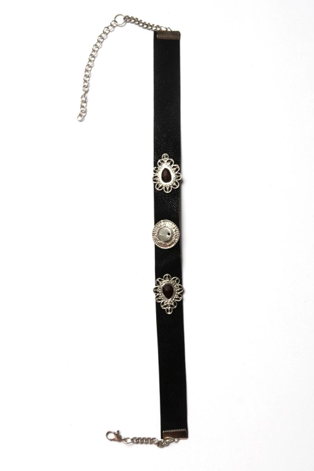 Wild Lilies Jewelry  Black Choker Necklace - Side Cropped Image