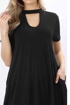 Zenana Outfitters Black Choker Tunic - Alternate List Image