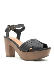 Qupid Black Chunky Heel - Product Mini Image
