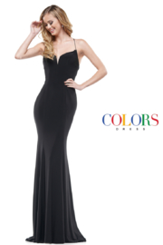 glow by colors Black Classic Gown - Product Mini Image