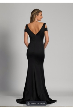 Dave and Johnny Black Classic Gown - Alternate List Image