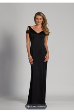Dave and Johnny Black Classic Gown - Product List Image
