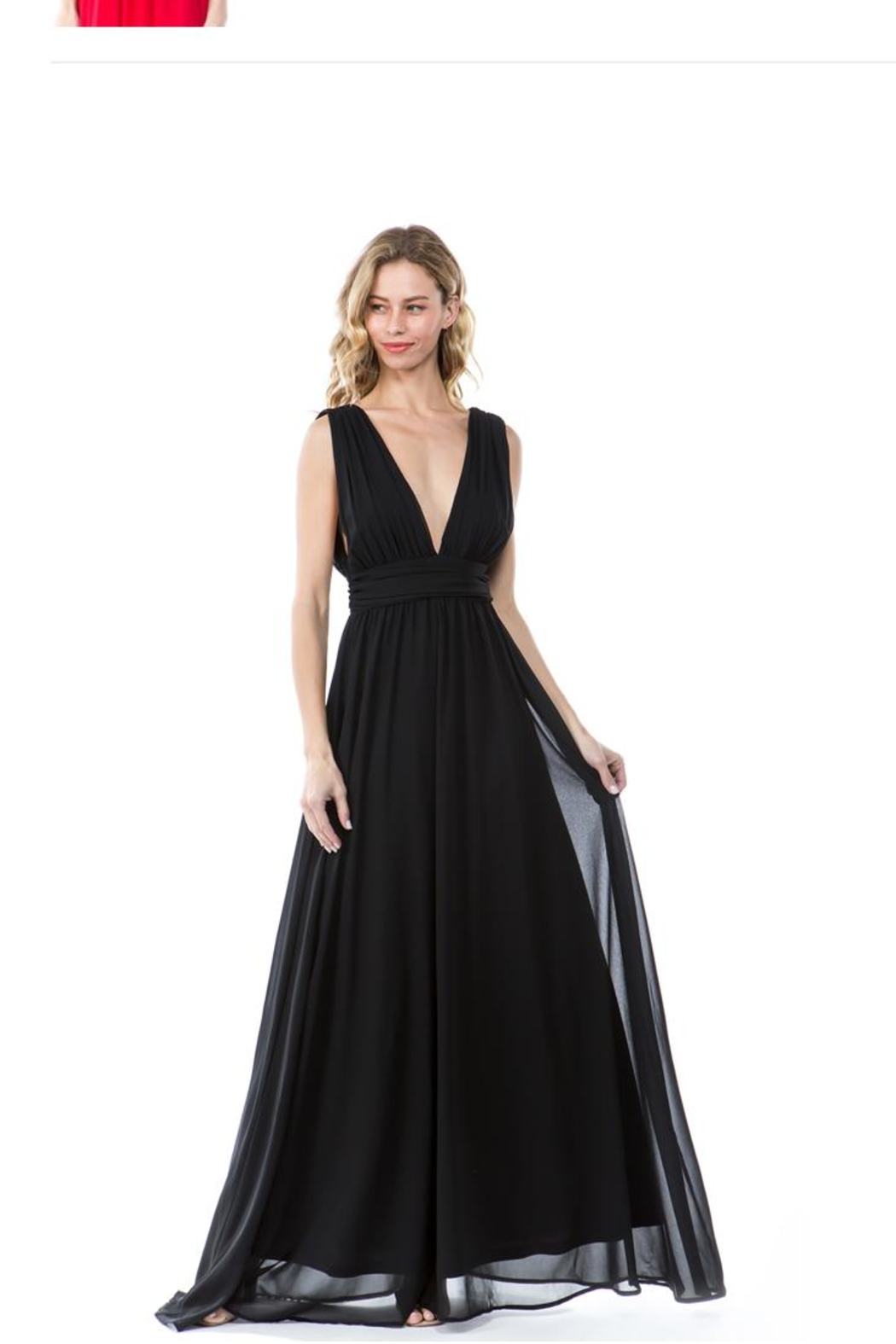 Fashion Wildcat Black Classic Gown - Main Image