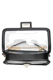 MMS Trading Black Clear Purse - Front full body