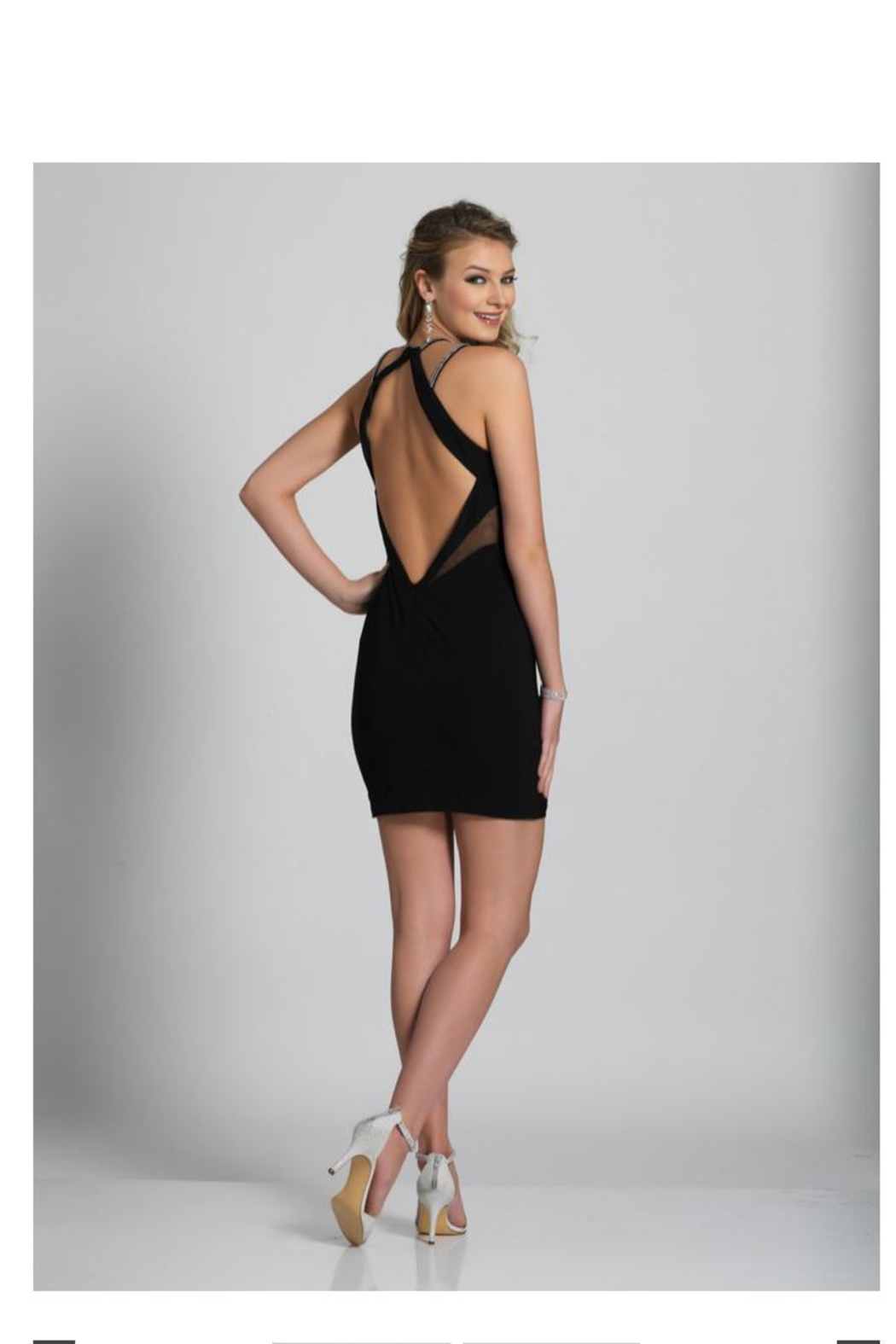 Dave and Johnny Black Cocktail Dress - Front Full Image