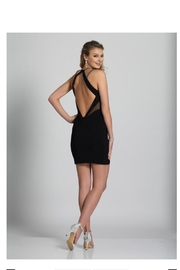 Dave and Johnny Black Cocktail Dress - Front full body