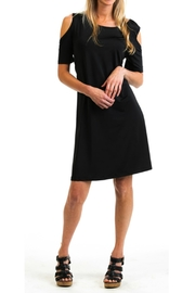 Evergreen Enterprises Black Cold-Shoulder Dress - Product Mini Image