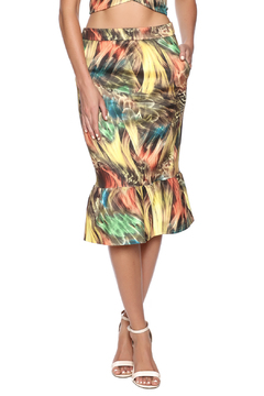 Shoptiques Product: Yellow Printed Skirt