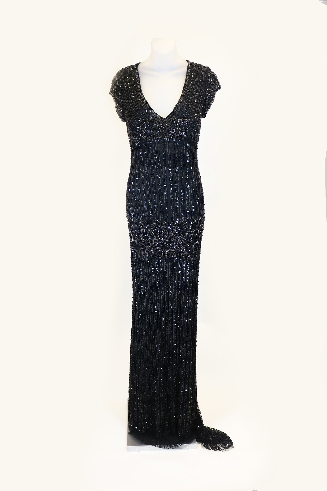 ALBERTO MAKALI LTD BLACK COLUMN GOWN - Main Image