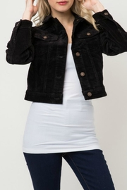 Cielo Black Corduroy Cropped-Jacket - Product Mini Image