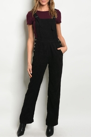 Polagram Black Corduroy Overall - Product Mini Image