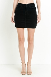 C'Est Toi Black Corduroy Skirt - Product Mini Image