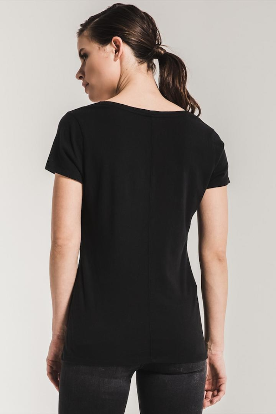 Zsupply Black Core V-Tee - Side Cropped Image