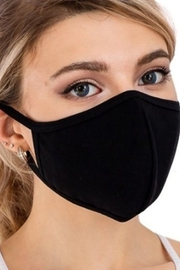 Cap Zone BLACK COTTON FACE MASK with FILTER SLOT - Product Mini Image