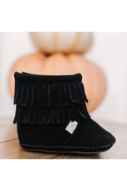 Little Love Bug Company Black Cozy Boot - Front full body
