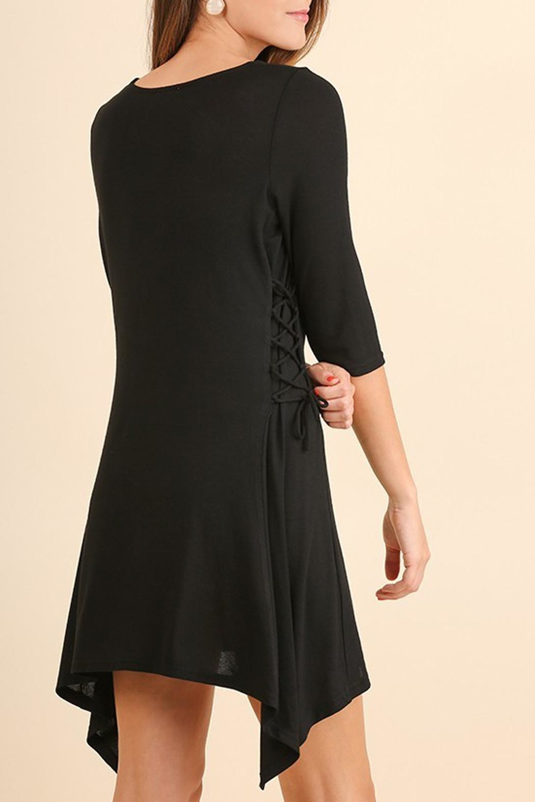 Umgee USA Black Criss-Cross-Tie Tunic - Front Full Image