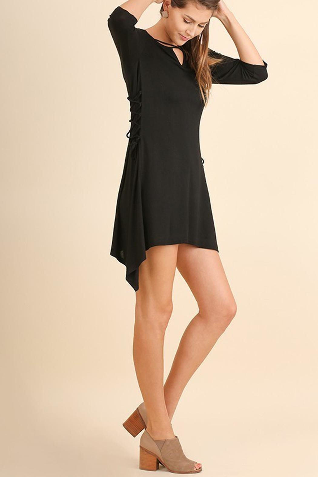 Umgee USA Black Criss-Cross-Tie Tunic - Side Cropped Image