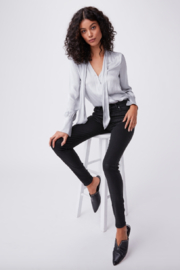 Paige Denim Black Croc Lux Hoxton Jean - Product Mini Image