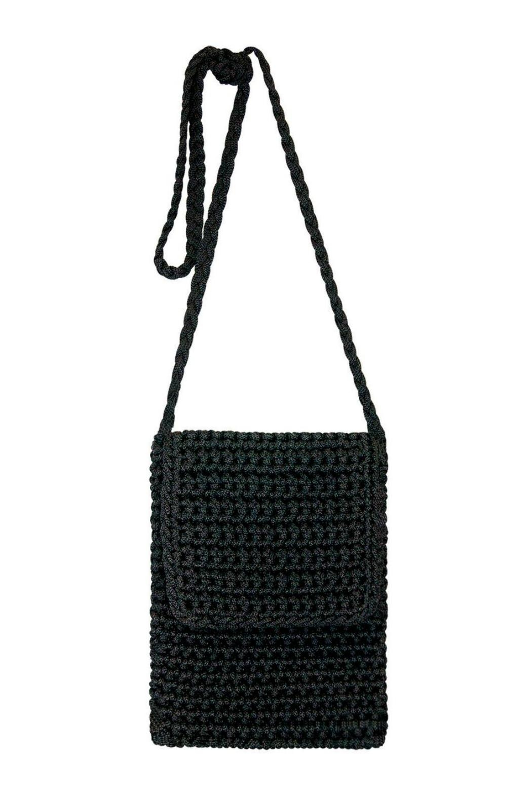 Petunias Black Crochet Crossbody - Main Image