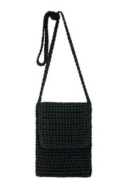 Petunias Black Crochet Crossbody - Front cropped